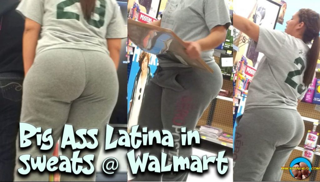 Big-Ass-Latina-in-sweats-@-Walmart