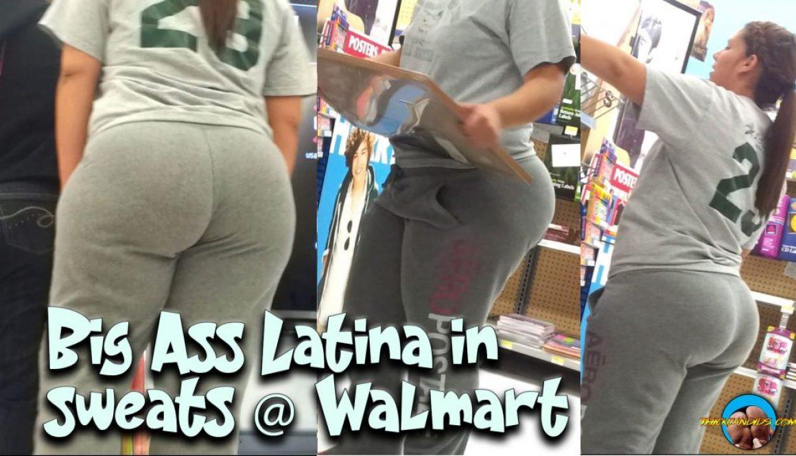 Big-Ass-Latina-in-sweats-@-Walmart
